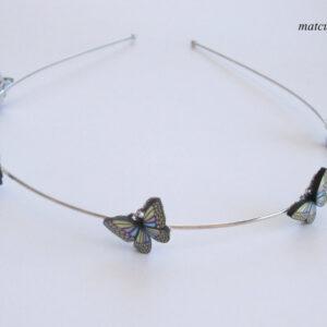 diadema mariposas artesanal