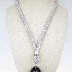 collar cristal facetado